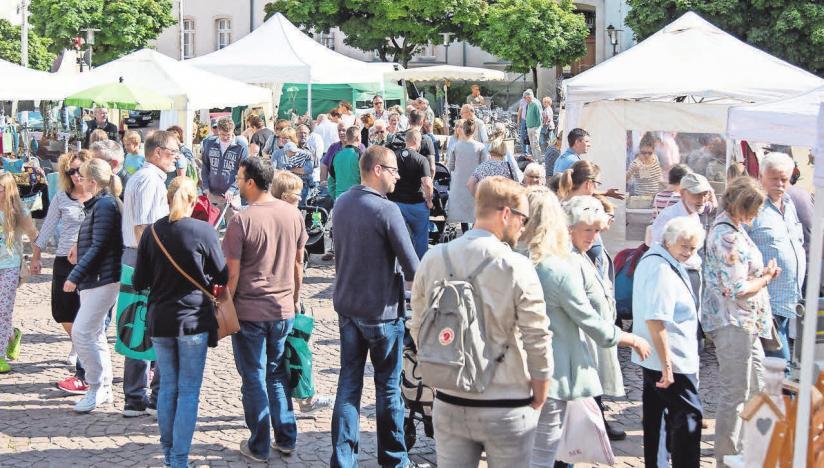 Beim Burgdorfer Kunstmarkt mit Kunstmeile lassen sich die Kunsthandwerker über die Schulter schauen.