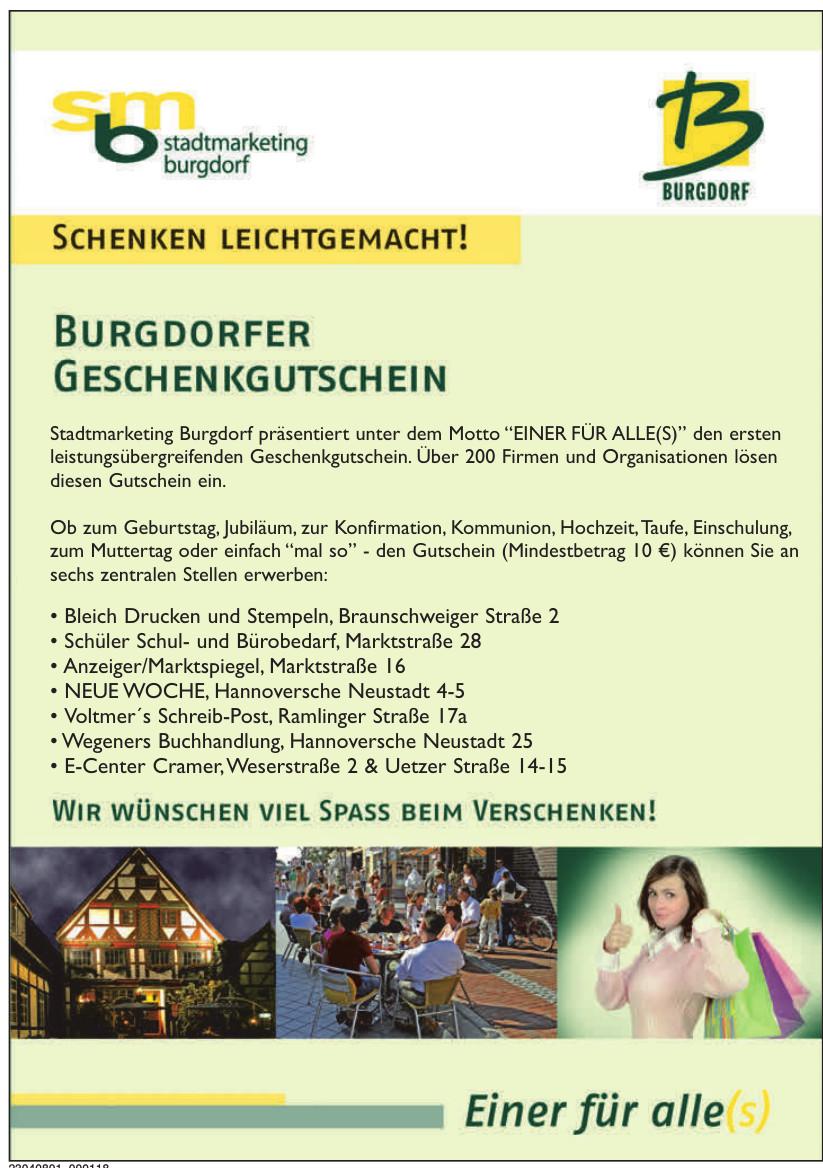 smb Stadtmarketing Burgdorf