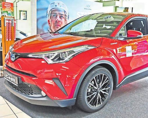 Sie fahren mit umweltfreundlicher Hybridtechnik: Der Toyota C-HR ...