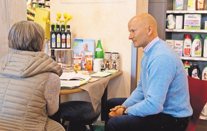 Der Heilpraktiker und ganzheitliche Krebsberater Dieter Betz berät zweimal im Jahr im Naturahaus.