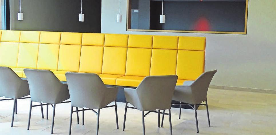 Der schön gestaltete Loungebereich.