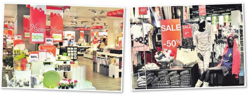 In vielen Geschäften im Leine-Center purzeln die Preise. Auch schöne Wohnaccessoires gibt es zu stark ermäßigten Preisen.
