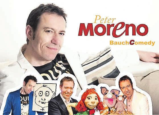 """Bauchredner und Comedian Peter Moreno mit seiner neuen Soloshow """"BauchComedy – Lachen ist Programm!"""""""