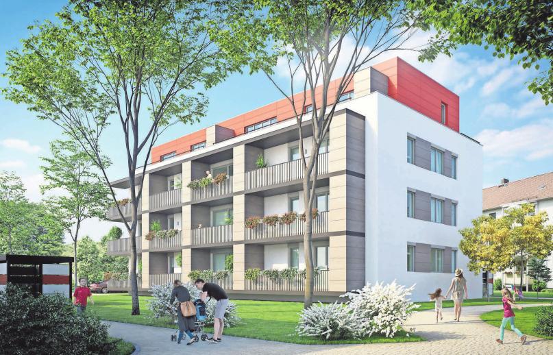 Wohnungsbau baut die Lehrter Wohnungsbau zurzeit zwei Mehrfamilienhäuser.