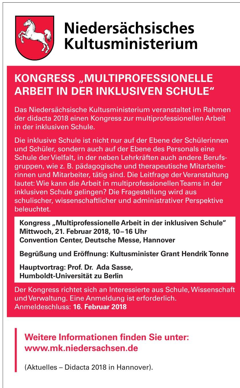 Das Niedersächsische Kultusministerium