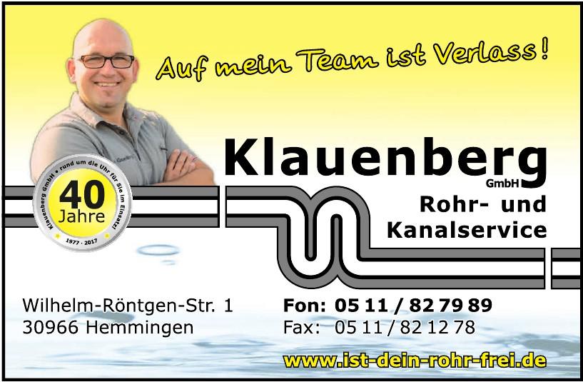 Klauenberg GmbH Rohr- und Knalservice