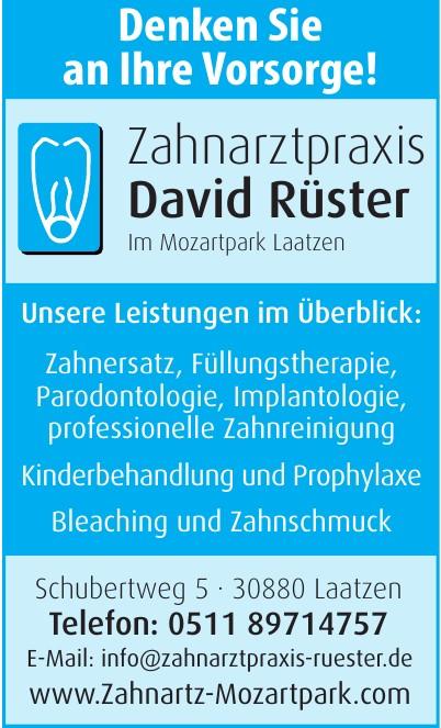 Zahnarztpraxis David Rüster Im Mozartpark Laatzen