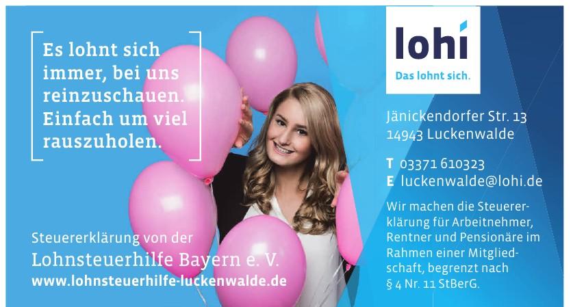 Lohnsteuerhilfe Bayern e.V.