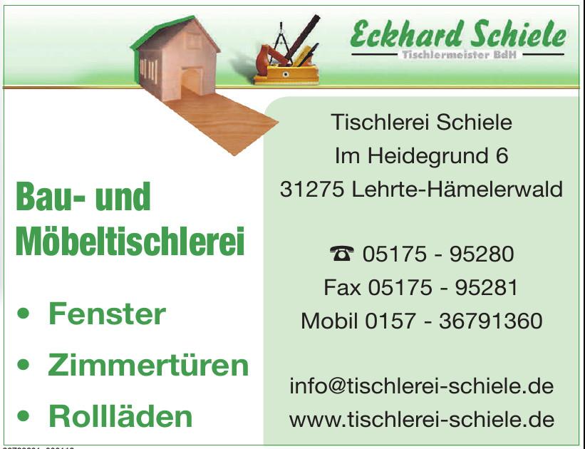 Eckhard Schiele Tischlermeister BdH