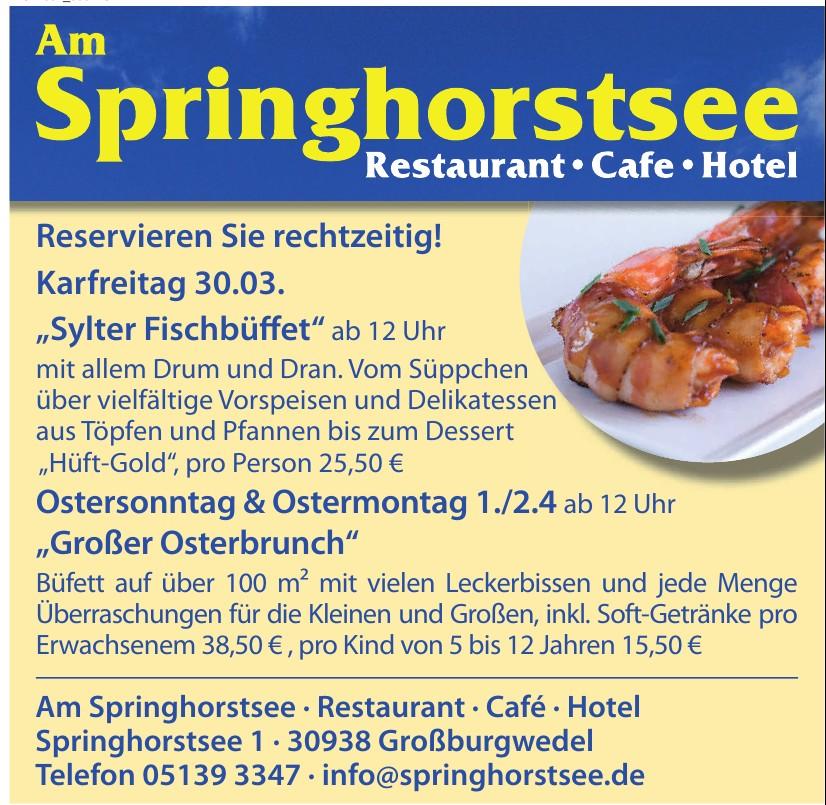 Am Springhorstse,  Restaurant,  Café, Hotel