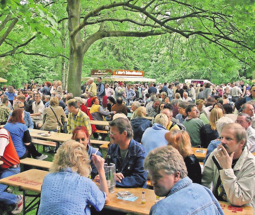 """""""Musik und Tanz im Stadtpark"""": Die Veranstaltung lockt viele Besucher an den idyllischen Schwanenteich."""