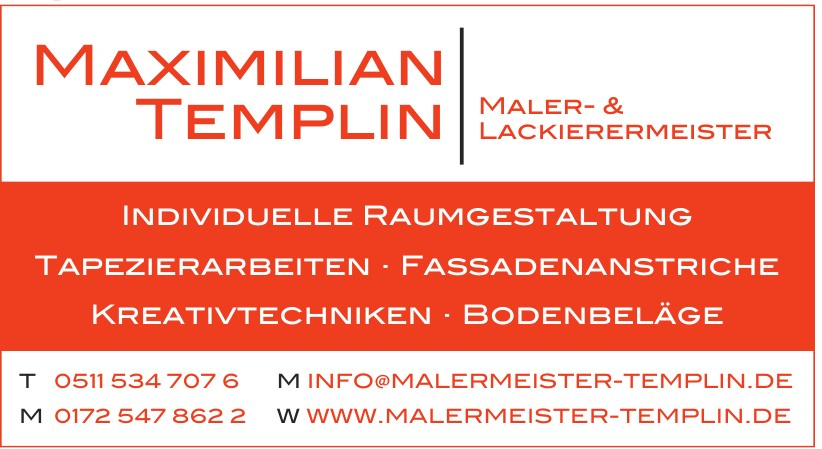Maximilian Templin Maler- & Lackierermeister