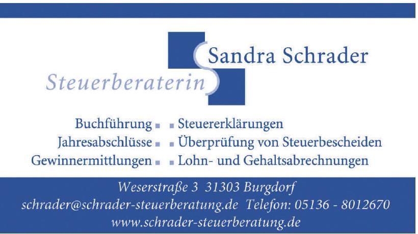 Steuerberaterin Sandra Schrader