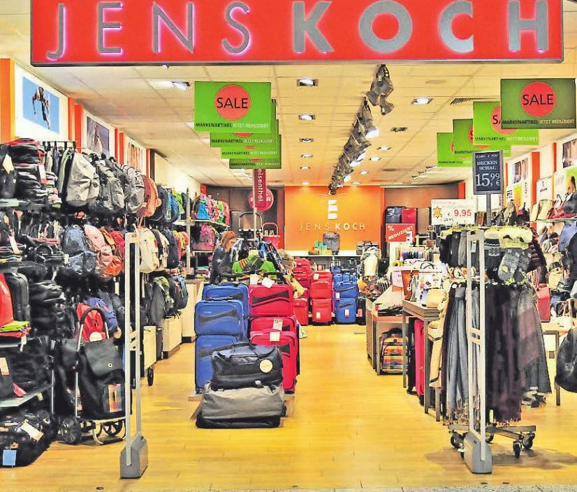 Bei Jens Koch finden Kunden reduzierte Koffer, Taschen und Rucksäcke.
