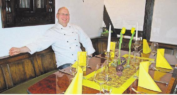 Thomas Gessner erwartet seine Gäste im Landgasthaus in stilvoller Atmosphäre.