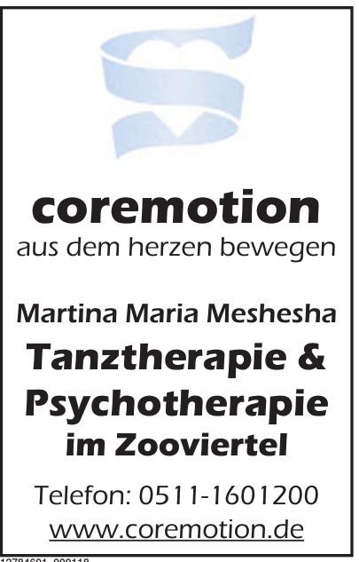 coremotion Tanztherapie & Psychotherapie im Zooviertel