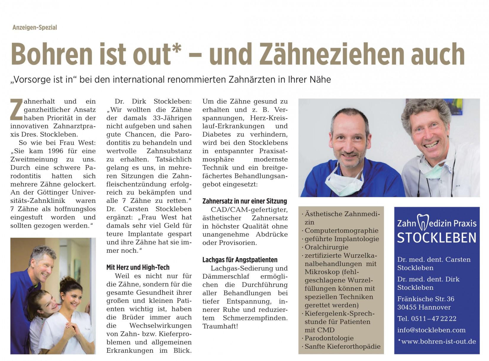Praxis Dr. med. dent. Carsten Stockleben & Dr. med. dent. Dirk Stockleben